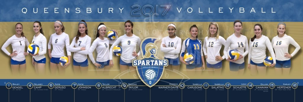 Queensbury Volleyball poster design by Andy Camp