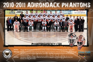 Adirondack Phantoms 2010-11 team photo poster