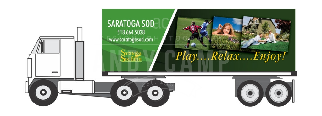 Saratoga Sod Truck side panel design