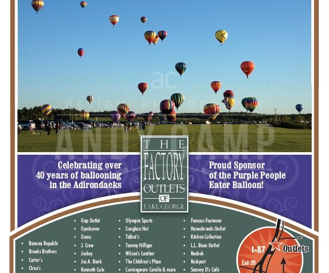 Outlet Center Balloon Festival Ad