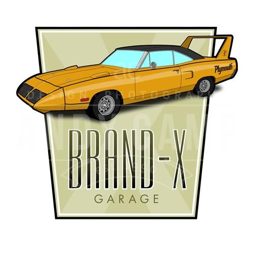 Brand X Garage Logo