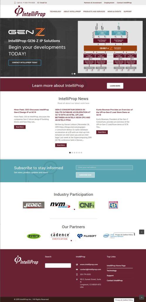 Intelliprop web site