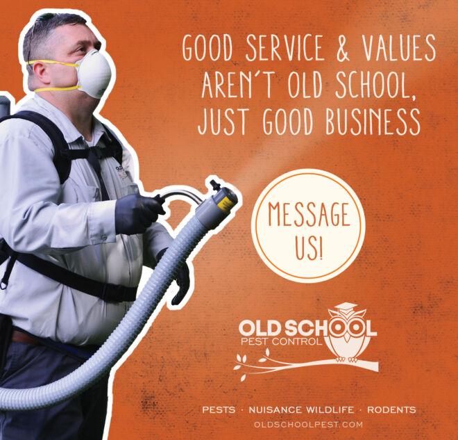 Old School Pest Control Ad