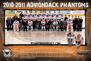Adirondack Phantoms 2010-11 team photo poster