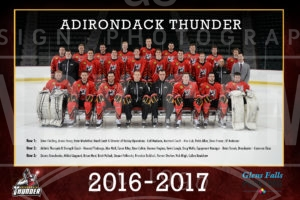 2017 Adirondack Thunder Team Photo Poster