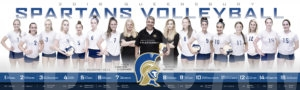 2018 Queensbury Volleyball poster